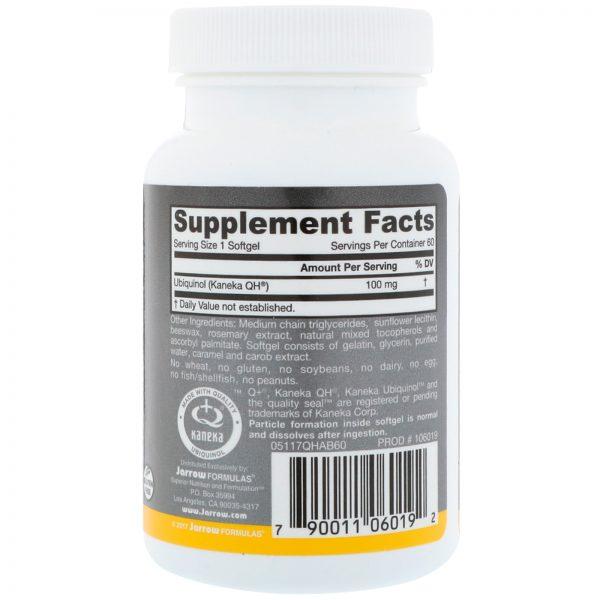 Jarrow Formulas, Ubiquinol Absorção QH, 100 mg, 60 Softgels   Comprar Suplemento em Promoção Site Barato e Bom