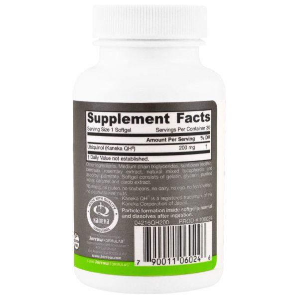 Jarrow Formulas, QH-absorb, Ubiquinol, 200 mg, 30 Cápsulas Gelatinosas   Comprar Suplemento em Promoção Site Barato e Bom