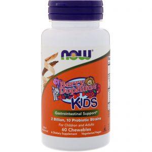 Now Foods, BerryDophilus, Para Crianças, 2 Bilhões, 60 Mastigáveis   Comprar Suplemento em Promoção Site Barato e Bom