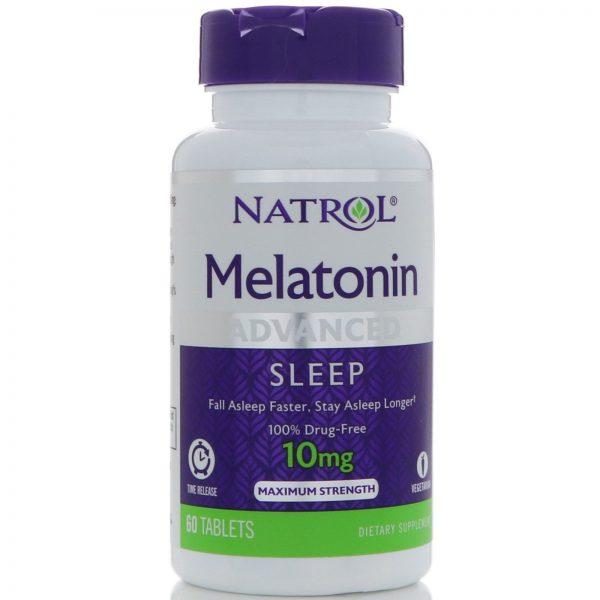 Natrol, Melatonina, Sono Avançado, Liberação Prolongada, 10 mg, 60 Comprimidos   Comprar Suplemento em Promoção Site Barato e Bom