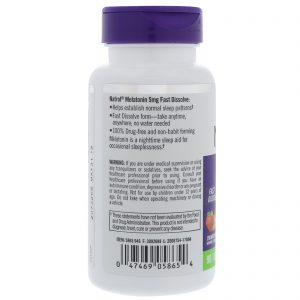 Natrol, Melatonina, Dissolução Rápida, Morango, 5 mg, 90 Comprimidos   Comprar Suplemento em Promoção Site Barato e Bom