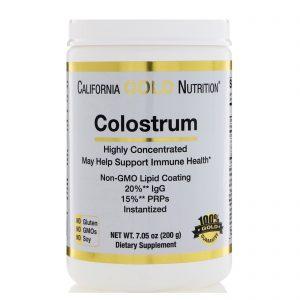 California Gold Nutrition, Colostro, Altamente Concentrado, Instantizado, livre de rBST, 7,05 oz (200 g)   Comprar Suplemento em Promoção Site Barato e Bom