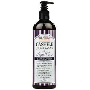 Shea Terra Orgânicos Castile Shea & Argan Liquid Soap, S. lavanda africana - 16 oz   Comprar Suplemento em Promoção Site Barato e Bom