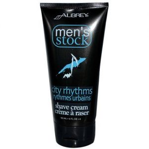 Aubrey Orgânicos Men's Stock Shave Cream, Ritmos da cidade - 6 oz   Comprar Suplemento em Promoção Site Barato e Bom