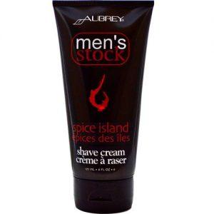 Aubrey Orgânicos Men's Stock Shave Cream, Ilha Spice - 6 oz   Comprar Suplemento em Promoção Site Barato e Bom