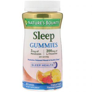 Nature's Bounty, Sleep Complex Gummies, sabor de ponche tropical, 60 balas de goma no formato Lua e Estrela   Comprar Suplemento em Promoção Site Barato e Bom