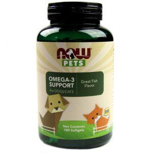 Now Foods Omega-3 Support for Dogs and Cats, Peixe - 180 Cápsulas em Gel   Comprar Suplemento em Promoção Site Barato e Bom