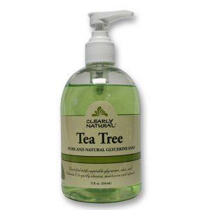Clearly Natural Tea Tree Pure and Natural Glicerina Sabão 12 fl oz   Comprar Suplemento em Promoção Site Barato e Bom