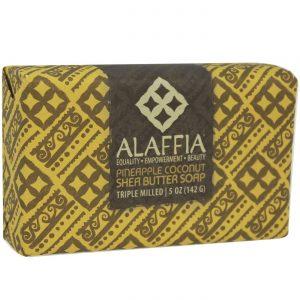 Alaffia Triple Milled Soap, Manteiga de xarope de coco com abacaxi - 5 oz   Comprar Suplemento em Promoção Site Barato e Bom