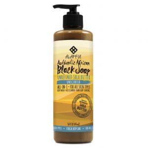 Alaffia Authentic Preto Soap, Sem sabor - 16 oz   Comprar Suplemento em Promoção Site Barato e Bom