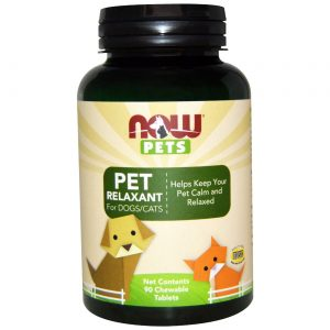 Now Foods Pet Relaxant for Dogs and Gatos - 90 Chewable Tabletes   Comprar Suplemento em Promoção Site Barato e Bom