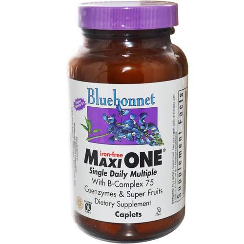 Bluebonnet Nutrition MAXI One, Iron Free - 90 Caplets   Comprar Suplemento em Promoção Site Barato e Bom