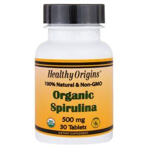 Healthy Origins, Spirulina orgânica, 500 mg, 30 comprimidos   Comprar Suplemento em Promoção Site Barato e Bom