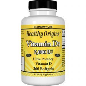 Healthy Origins, Vitamina D3, 5.000 UI, 360 cápsulas softgel   Comprar Suplemento em Promoção Site Barato e Bom