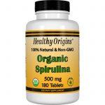 Healthy Origins, Spirulina orgânica, 500 mg, 180 comprimidos   Comprar Suplemento em Promoção Site Barato e Bom