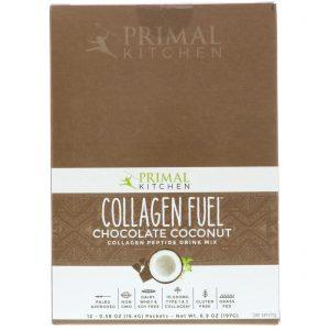 Primal Kitchen, Collagen Fuel, Collagen Peptide Drink Mix, Chocolate Coconut, 12 Packets, 0.58 oz (16.4 g) Each   Comprar Suplemento em Promoção Site Barato e Bom