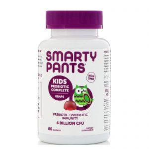 SmartyPants, Kids Probiotic Complete, uva, 4 bilhões de CFU, 60 Gomas   Comprar Suplemento em Promoção Site Barato e Bom