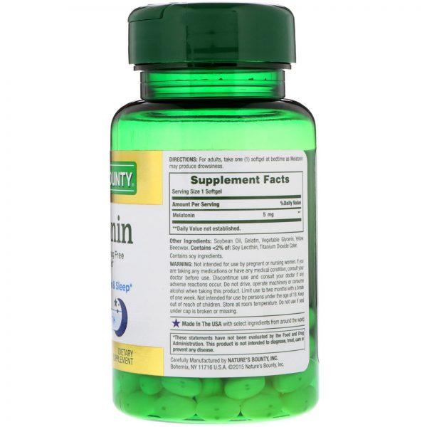 Nature's Bounty, Melatonina, 5 mg, 90 Cápsulas Gelatisonas   Comprar Suplemento em Promoção Site Barato e Bom