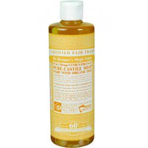Dr Bronner Citrus óleo puro Castela sabão Citrus 8 fl oz   Comprar Suplemento em Promoção Site Barato e Bom