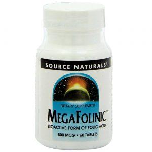Source Naturals MegaFolinic 60 Tabletes   Comprar Suplemento em Promoção Site Barato e Bom