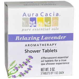 Aura Cacia Lavender Shower Tabletes Lavender 3 PK   Comprar Suplemento em Promoção Site Barato e Bom