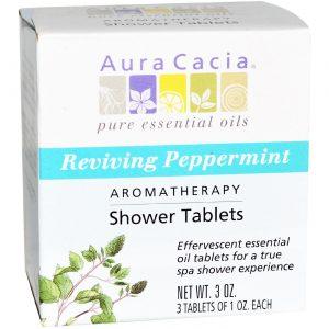 Aura Cacia Hortelã-pimenta Duche Tabletes Hortelã-pimenta 3 PK   Comprar Suplemento em Promoção Site Barato e Bom