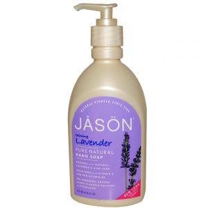 Jason Natural Cosmetics Lavanda Cetim líquido Sabonete Lavanda 16 OZ   Comprar Suplemento em Promoção Site Barato e Bom