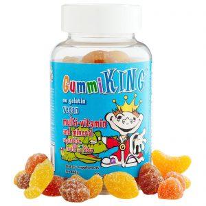 Gummi King, Multi-Vitaminas e Minerais, Vegetais, Frutas e Fibras, para Crianças, 60 balas de goma   Comprar Suplemento em Promoção Site Barato e Bom