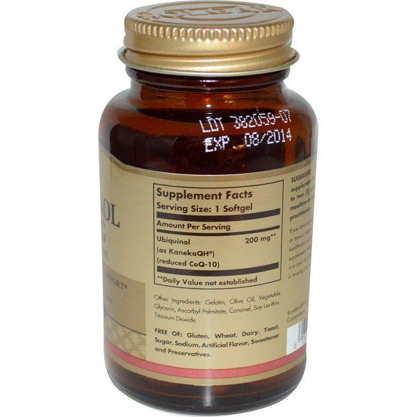 Solgar, Ubiquinol (CoQ10 reduzido), 200 mg, 30 Softgels   Comprar Suplemento em Promoção Site Barato e Bom