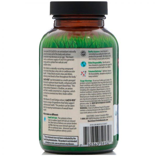 Irwin Naturals, CoQ10-Red, 60 Cápsulas Gelatinosas Líquidas   Comprar Suplemento em Promoção Site Barato e Bom