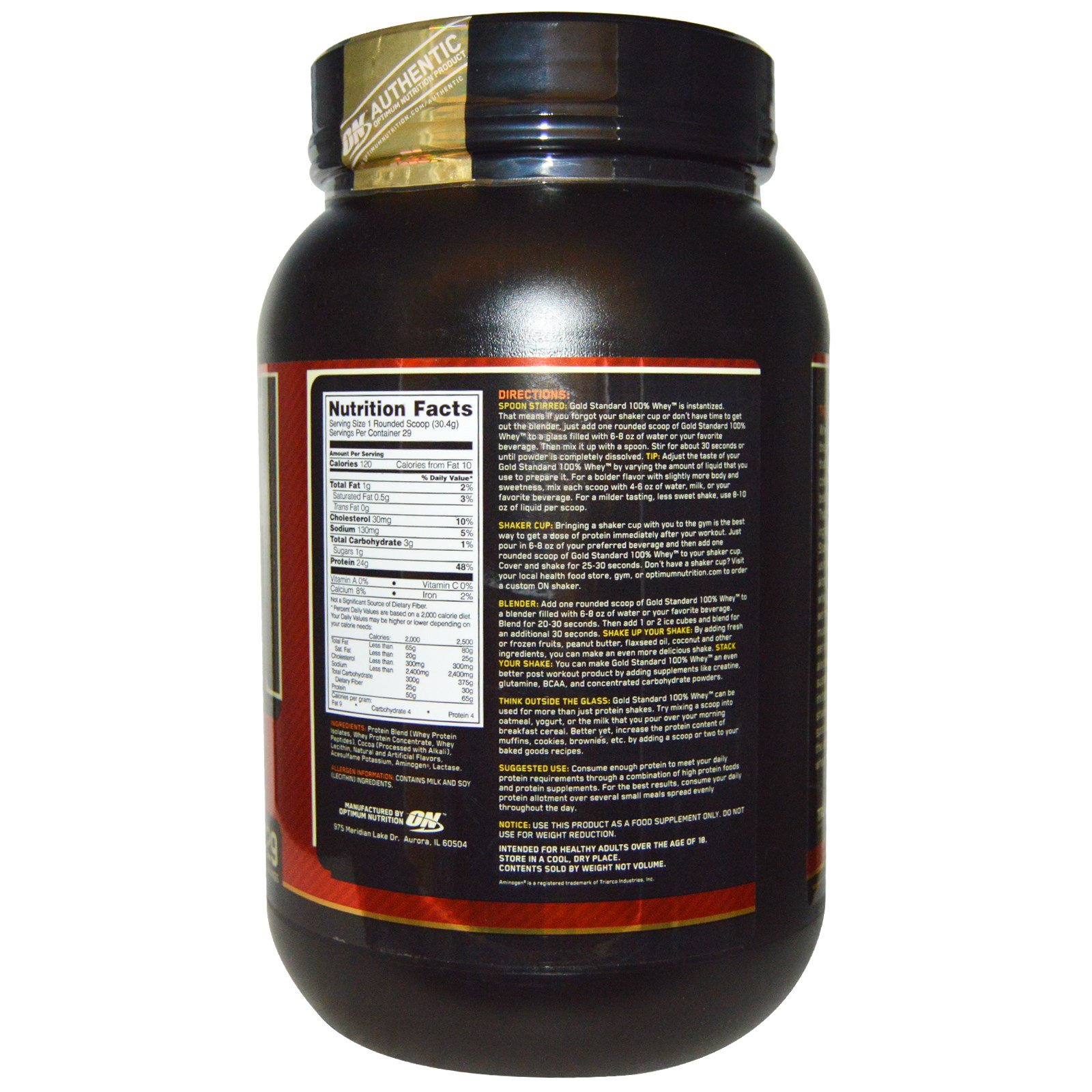 309abcedd Comprar Optimum Nutrition