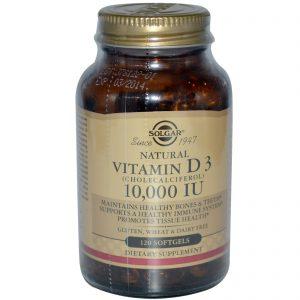 Solgar, Vitamina D3 Natural, 10,000 UI, 120 Cápsulas Gelatinosas   Comprar Suplemento em Promoção Site Barato e Bom