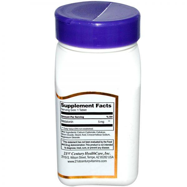 21st Century, Melatonina, 5 mg, 120 Comprimidos   Comprar Suplemento em Promoção Site Barato e Bom