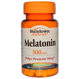 Sundown Naturals, Melatonina, 300 mcg, 120 Cápsulas   Comprar Suplemento em Promoção Site Barato e Bom