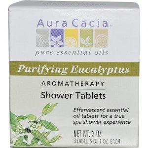 Aura Cacia Eucalyptus Duche Tabletes 3 PK   Comprar Suplemento em Promoção Site Barato e Bom