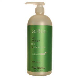 Alba Botanica Espumante Mint Bath & Shower Gel 32 oz   Comprar Suplemento em Promoção Site Barato e Bom