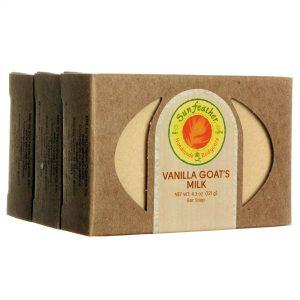 Sunfeather Do leite de cabra Vanilla Soap 3 - 4,3 oz Barras   Comprar Suplemento em Promoção Site Barato e Bom