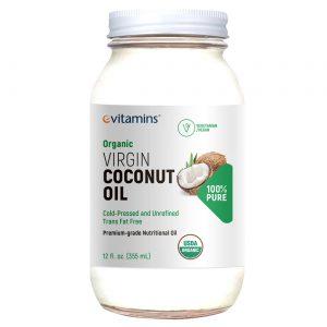 Óleo de Coco Orgânico eVitamins 355 ml   Comprar Suplemento em Promoção Site Barato e Bom