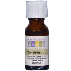 Aura Cacia Essencial Sandalwood Oil 0,5 onças   Comprar Suplemento em Promoção Site Barato e Bom