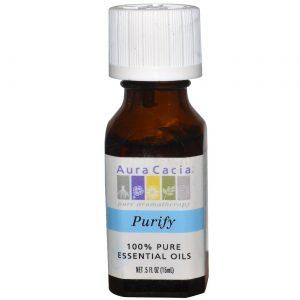 Aura Cacia Massag / banho de óleo Purify 0,5 onças   Comprar Suplemento em Promoção Site Barato e Bom