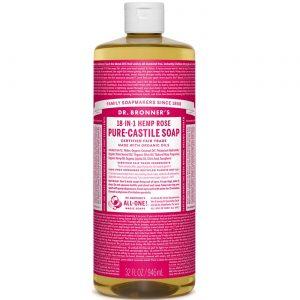 Dr Bronner Rose Pure Castela Soap Rose 32 fl oz   Comprar Suplemento em Promoção Site Barato e Bom