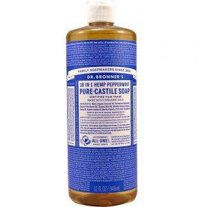 Dr Bronner Hortelã-pimenta Oil Pure Castela Soap Hortelã-pimenta 1/2 galão   Comprar Suplemento em Promoção Site Barato e Bom