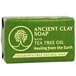 Zion Health Clay Soap, Com o óleo da árvore do chá - 6 oz   Comprar Suplemento em Promoção Site Barato e Bom