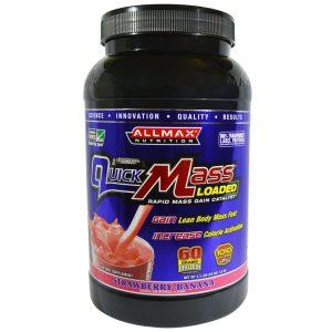 AllMax Nutrition QuickMass, Banana De Morango - 3.3 lbs   Comprar Suplemento em Promoção Site Barato e Bom