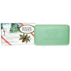 South Of France French Milled Soap, Evergreen gelado - 3.5 oz   Comprar Suplemento em Promoção Site Barato e Bom
