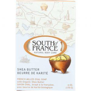 South Of France French Milled Oval Bar Soap, Manteiga de karité - 6 oz   Comprar Suplemento em Promoção Site Barato e Bom