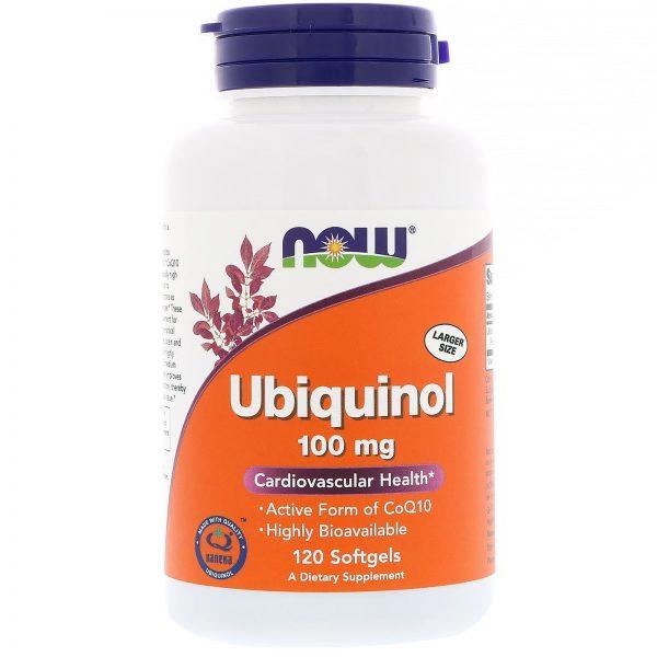 Now Foods, Ubiquinol, 100 mg, 120 Cápsulas gelatinosas   Comprar Suplemento em Promoção Site Barato e Bom