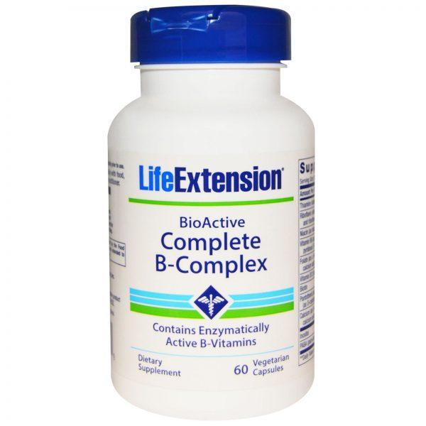 Life Extension, BioActive Complexo B Completo, 60 Cápsulas Vegetais   Comprar Suplemento em Promoção Site Barato e Bom