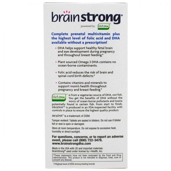 BrainStrong, Pré-Natal, 30 Cápsulas de Gelatina Mole, 30 Comprimidos   Comprar Suplemento em Promoção Site Barato e Bom