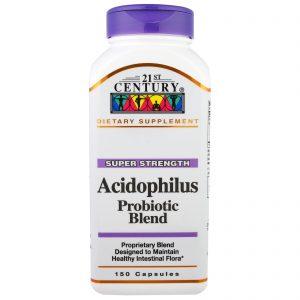 21st Century, Acidophilus Tipo Probiótico, 150 Cápsulas   Comprar Suplemento em Promoção Site Barato e Bom